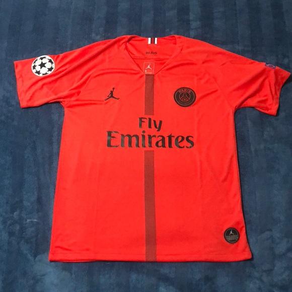 promo code bca25 7a600 Jordan Paris Saint Germain Soccer Jersey NWT
